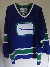 Vintage CCM Vancouver Canucks Vintage Hockey Premium Throwback Jersey Men Large