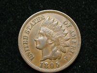 BLOW OUT SALE!!  AU 1895 INDIAN HEAD CENT PENNY  W/DIAMONDS & FULL LIBERTY #86k