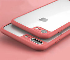 Red SlimThin Clear Soft TPU Bumper Back Case Cover For Apple iPhone 7 Plus