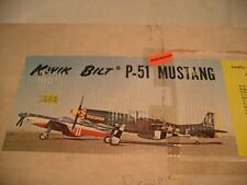 "vintage model rc airplane kits - 64"" SIG P-51D Kwik Bilt Mustang"