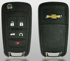 Chevrolet Flip Remote Key 2010-2017 5 Buttons Chevy Logo (Fits: Chevrolet)