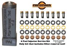 Bosch Denso OEM Ford Fuel Injector V8 Service Kit + Filter Removal Tool SKYM8