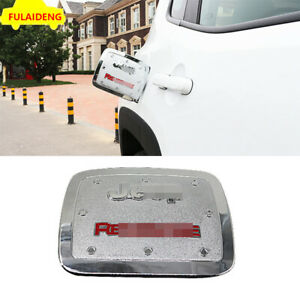 For Jeep Renegade 2016-2020 Chrome Fuel tank cap oil gas Protector cover trim