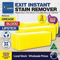 Exit Soap 3Pk Stain Remover Grease Lipstick Blood Wine Clothes Upholstery Ink