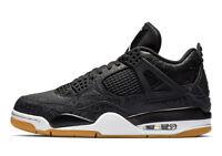 Air Jordan 4 SE Retro 'Laser' Black/White-Gum Light Brown (CI1184 001)