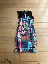 Home Made Batman Pattern Wiggle Dress Size 6/8