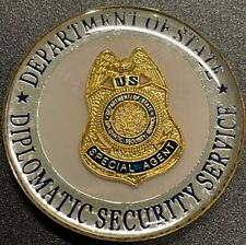 US DEPARTMENT OF STATE DIPLOMATIC SECURITY SERVICES CHALLENGE COIN!!
