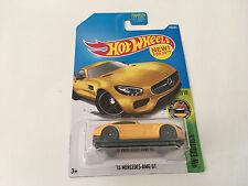 Hot Wheels Exotics Mercedes-Benz AMG GT Yellow Diecast Car Scale 1:64