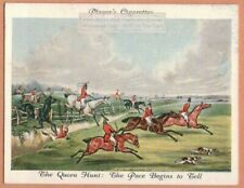 """Fox Hunting With Hounds """"Quorn Hunt"""" After Alken Dog 1930s Ad Trade Card"""