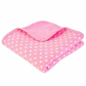 SYB Baby Blanket, EMF Protection (Pink with White Dots)