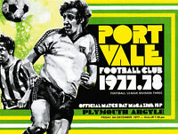 1977/78 Port Vale v Plymouth Argyle, Division 3, PERFECT CONDITION