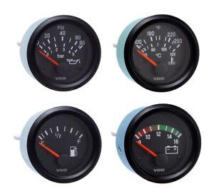 4 Gauge set with senders, VDO genuine gauges, Oil,Temp,Fuel,Volt,12V, brackets