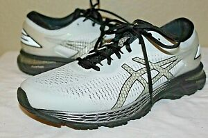 MENS ASICS GEL KAYANO 25 RUNNING SHOES 1011A029 PLATINUM & BLACK SIZE 10.5 EE