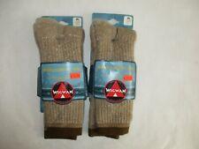 2 Pair WIGWAM Merino Comfort Hiker Socks-Chestnut-Size Medium