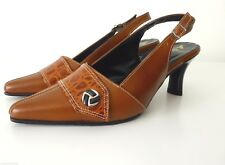 LAURA BENINI Made In Australia Size 6.5  Leather Slingback Shoes Pumps