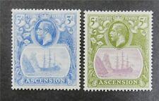 nystamps British Ascension Stamp # 14.16 Mint Og H $34 U4y1448