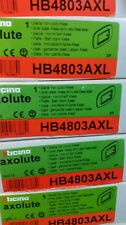 HB4803AXL PLACCA ELLITTICA 3 MODULI INOX LUCIDO AXOLUTE BTICINO