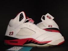 2006 Nike Air Jordan V 5 Retro WHITE FIRE RED BLACK WOLF GREY 136027-162 DS 10.5