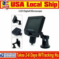 "LCD 1-600X 4.3"" HD 3.6MP Digital Microscope Magnification Video Camera Magnifier"