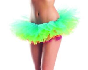 Rainbow Tutu Petticoat Tiered Layered Mesh Tulle Ruffled Organza Costume BW1263