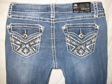 Grace In LA Size 7/27 Actual Siz 30 inch Tight X 21 1/2 Distressed Women's Jeans