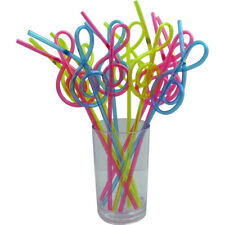 Music G-Clef Shaped Straws (12 & Pack)
