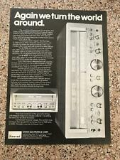"1979 VINTAGE PRINT Ad FOR Sansui G-5500+7500 Stereo Receiver ""TURN WORLD AROUND"""