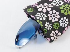 Ladies' Eyeglasses Case ~ Nylon Fabric Snap Pouch w/Pastel Floral Pattern