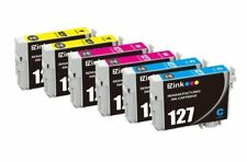 6 Pack 127 CMY Ink For Epson WorkForce 630 633 635 645 840 845 T127