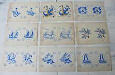 Antique Collection of 21 Watercolor and Drawing Projects for Tiles, Portuguese