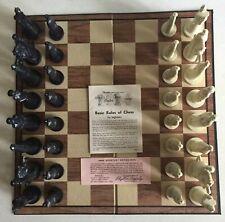 VTG 1962 PETER GANINE #1483 CONQUEROR SCULPTURED CHESS SET - BOARD GAME COMPLETE