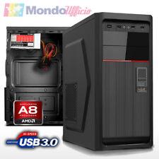 PC Computer AMD AM4 A8-9600 3,40 Ghz Quad Core - Ram 8 GB DDR4 - SSD 240 GB
