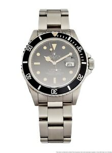 Scarce Vintage Rolex Submariner 16800 Orig. Box Papers Fresh From Florida Estate