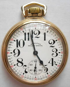 Hamilton 992 B Pocket Watch, Excellent Condition, Montgomery Double Sunk Dial