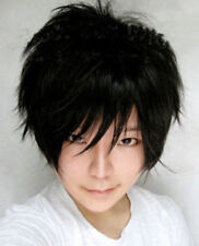 Hight Quality Orihara Izaya Cosplay Wig Short Black Fashion Man Wig + Wig Cap
