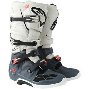 NEW Alpinestars Tech 7 MX Boots Dark Grey/Light Grey from Moto Heaven
