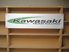 Kawasaki Team Racing garage workshop banner