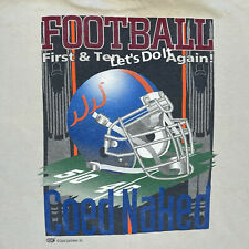 Vintage Football First & Ten Let's Do It Again Coed Naked Football Xxl T-Shirt