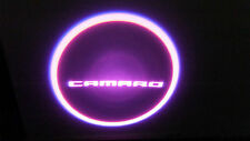 2PC PINK CAMARO 5W LED EMBLEM DOOR PROJECTOR GHOST SHADOW PUDDLE LOGO LIGHT