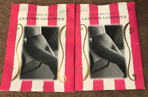 Victoria Secret Lasting Luxuries Pantyhose Large Color:nude & Buff NWT Lot Of 2