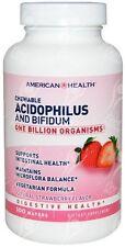 American Health, Chewable Lactobacillus Acidophilus & Bifidus Wafers - x100