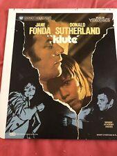 ced video disc movie Klute Jane Fonda Donald Sutherland