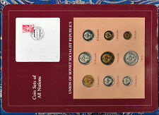 Coin Sets of All Nations USSR Russia w/card 1976-1990 1 Ruble 50 Kopeck 1976 UNC