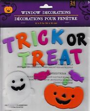 Halloween Gel Window Cling Stickers 24 Count ~ TRICK or TREAT w