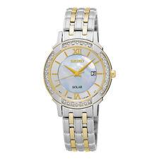 Seiko SUT278 SUT278P9 Ladies Solar Diamond Watch two-tone WR30m RRP $825.00
