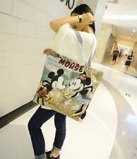 Women Canvas Shoulder Bag Mickey Mouse Handbag Shopping Bag Hobo Bag fashion