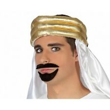 False Moustache and Beard Arabic Style Black Fancy Dress