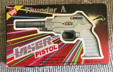 VINTAGE 1970s ELECTRONIC LASER SPACE RAY GUN PISTOL IN BOX THUNDER A