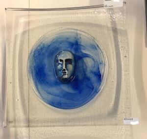 Kosta Boda Bertil Vallien -Dish HEAD I- lim. Ed. Glas Skulptur NEU unbenutzt
