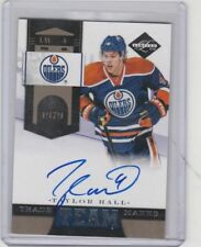 2011 12 Limited Team Trademarks Autograph #62/99 Taylor Hall Oilers NJ Devils